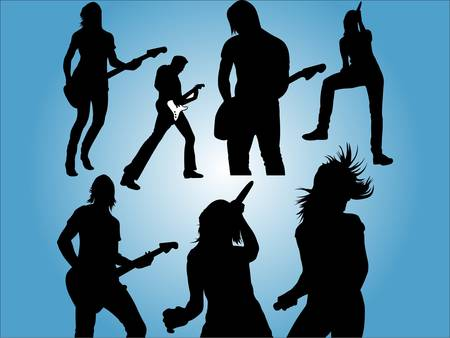 Live Music People Vector