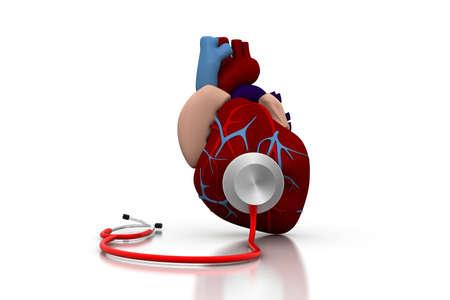 heart doctor: Stethoscope on a heart