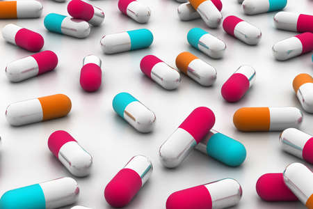 healthfulness: capsules  Stock Photo