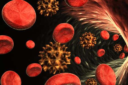 inmunidad: Virus en la sangre Foto de archivo