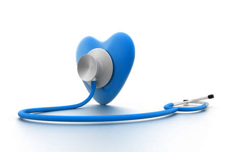 estetoscopio corazon: coraz�n con un estetoscopio Foto de archivo