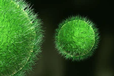 epidemiology: Viruses,  detailed 3d illustration
