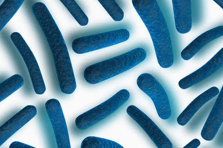 3d illustration of Bacteria illustration