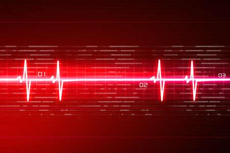 elettrocardiogramma: ECG sfondo Archivio Fotografico