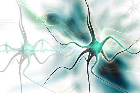 Neuronen in digitaal ontwerp Stockfoto