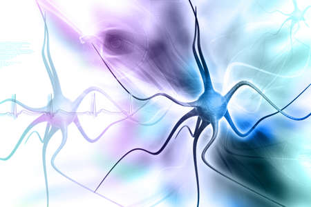 Neurons in digital design Stock Photo - 10919965