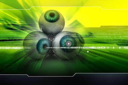 identification: Digital illustration of an eye