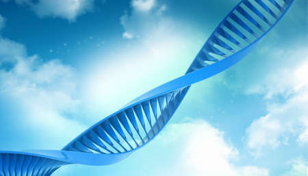 Digital illustration of a dna in abstract background illustration