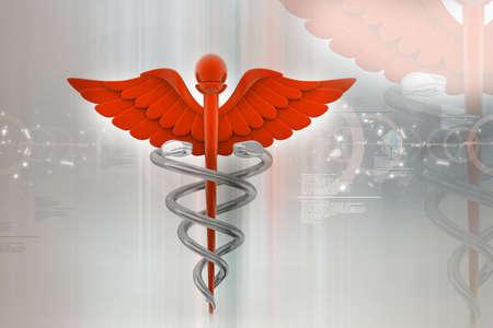 digital illustration of medical symbol in abstract background Stock Illustration - 10925181