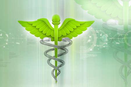 digital illustration of medical symbol in abstract background Stock Illustration - 10925180