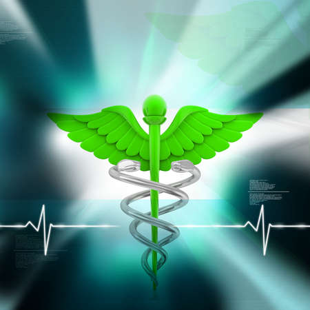 digital illustration of medical symbol in abstract background Stock Illustration - 10925178