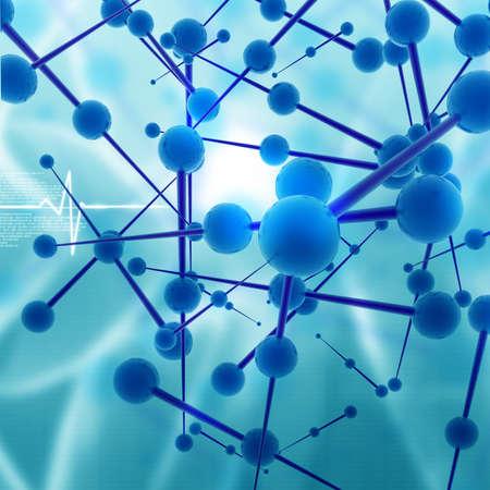 estructura: Fondo molecular