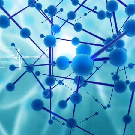 Molecular background Stock Photo - 10920012