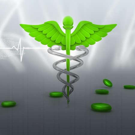 digital illustration of medical symbol in abstract background illustration