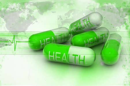 pharmaceutical drug: Abstract Capsule background Stock Photo