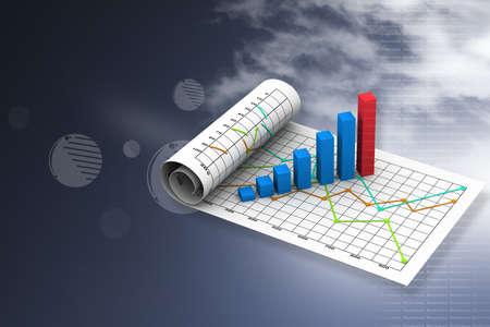 grafica de barras: Gráfico de negocio con la carta