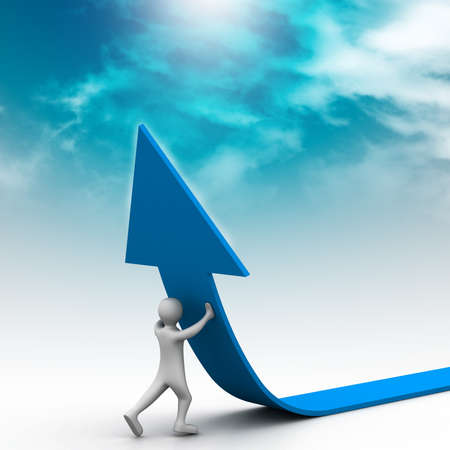 acute angle: Right business growth solution Stock Photo