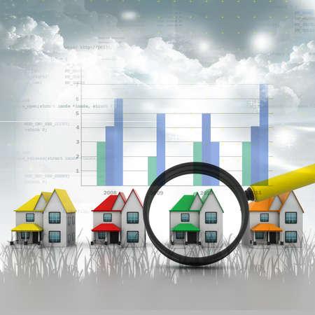 nieruchomosci: Szukaj domu w abstrakcyjnym tle