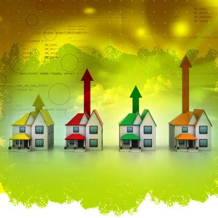 bankruptcy: Growing home sale in abstract  background