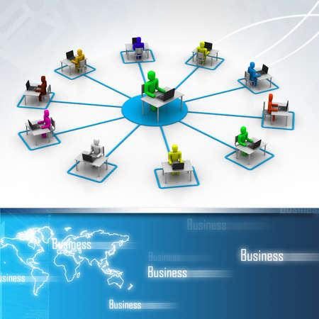 training: La formation en ligne Banque d'images