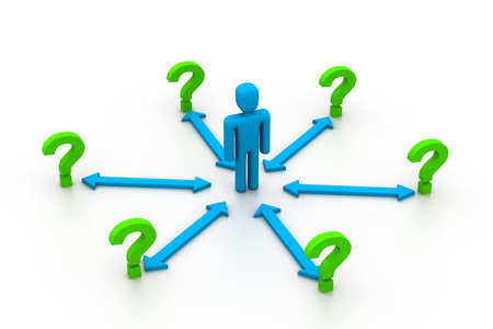 e recruitment: Choices Dilemma Stock Photo