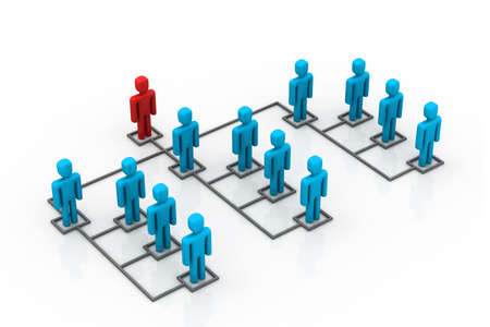 organisation: Business network with leader