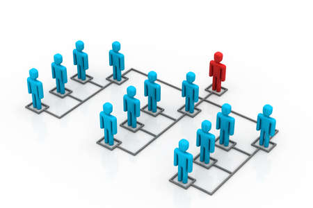 organised group: Business network with leader