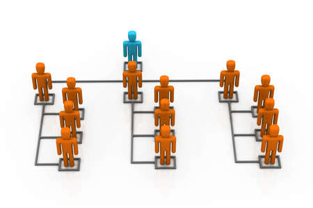 co operation: Business network with leader