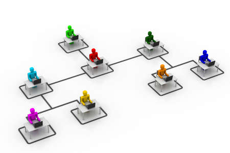 organised group: Organisation concept Stock Photo
