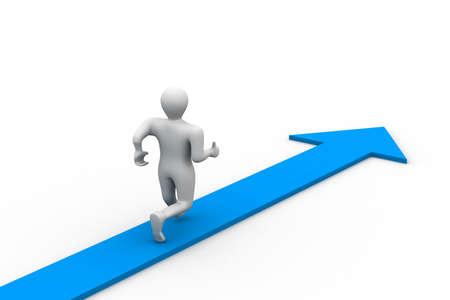 employee satisfaction: Man running the road of success