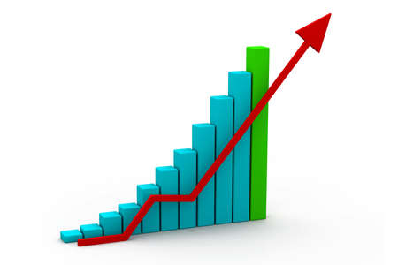 increases: Business graph Stock Photo