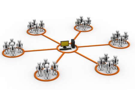 co operation: Business network around the computer