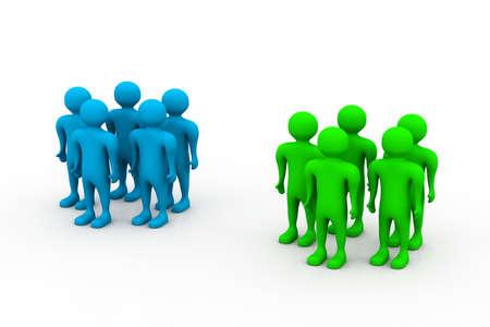 3d circle: 3d human team