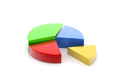 sales chart: Colorful 3d pie chart Stock Photo