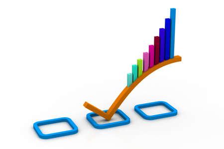 3d Business graph Stock Photo - 11036789