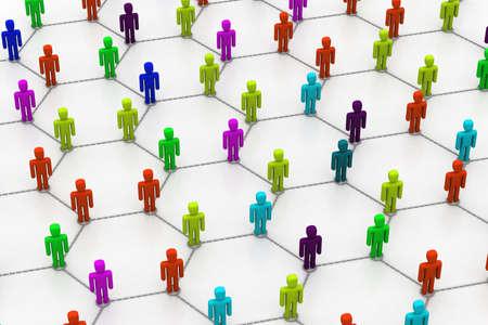 organised: Colorful people network