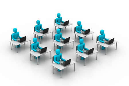 center table: People working in office