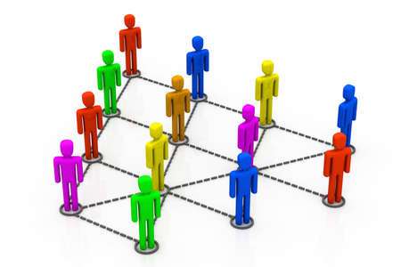 Colorful Business network Stock Photo - 11037559