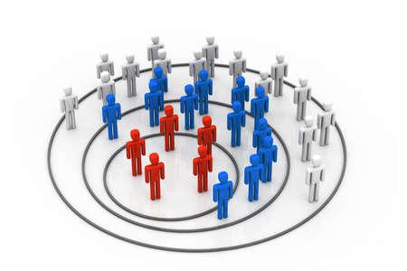 organigrama: Concepto de negocio organización Foto de archivo