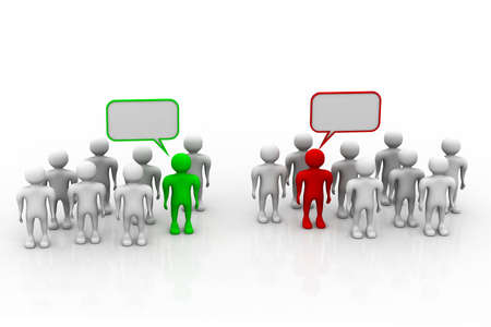 speak out: Social networking people with speech bubbles