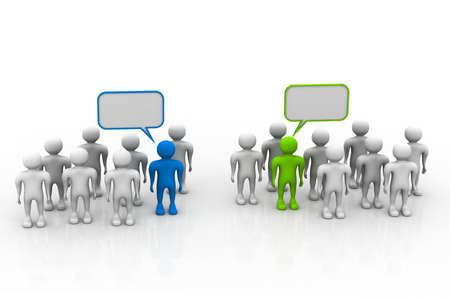 networking people: La gente de redes sociales con las burbujas del discurso