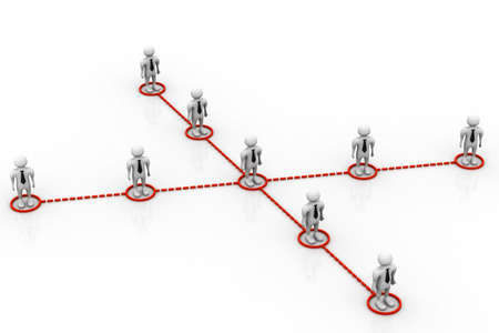 e recruitment: Business network people