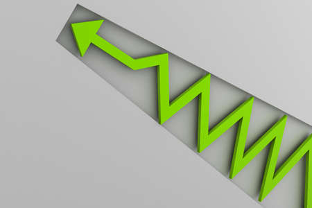 capitalist: green arrow in business graph
