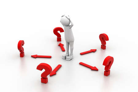 Confused with questions Stock Photo - 11113543