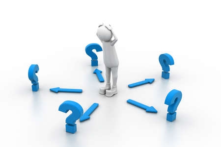 man confused: Confused with questions