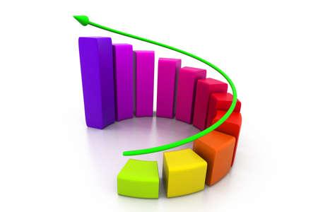 upward graph: Rising business graph Stock Photo