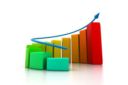 Rising business graph photo