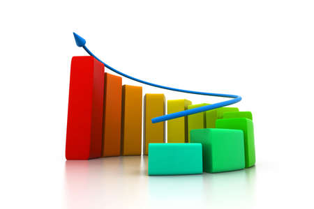 rising graphic: Rising business graph Stock Photo