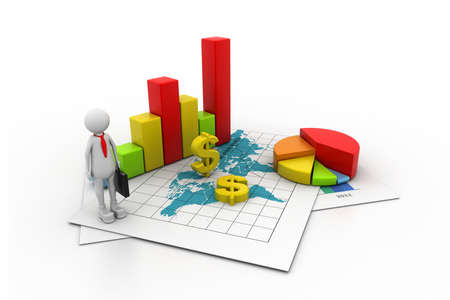 investment solutions: Business graph concept