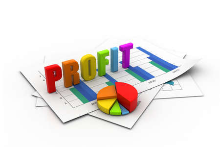 Business profit  graph  Stock Photo